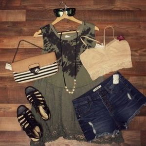 WE THE FREE tie dye and crochet Free People tank!